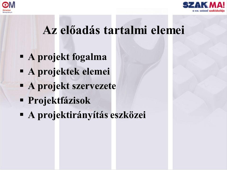 1 Az önértékelés mint projekt 6. előadás 1