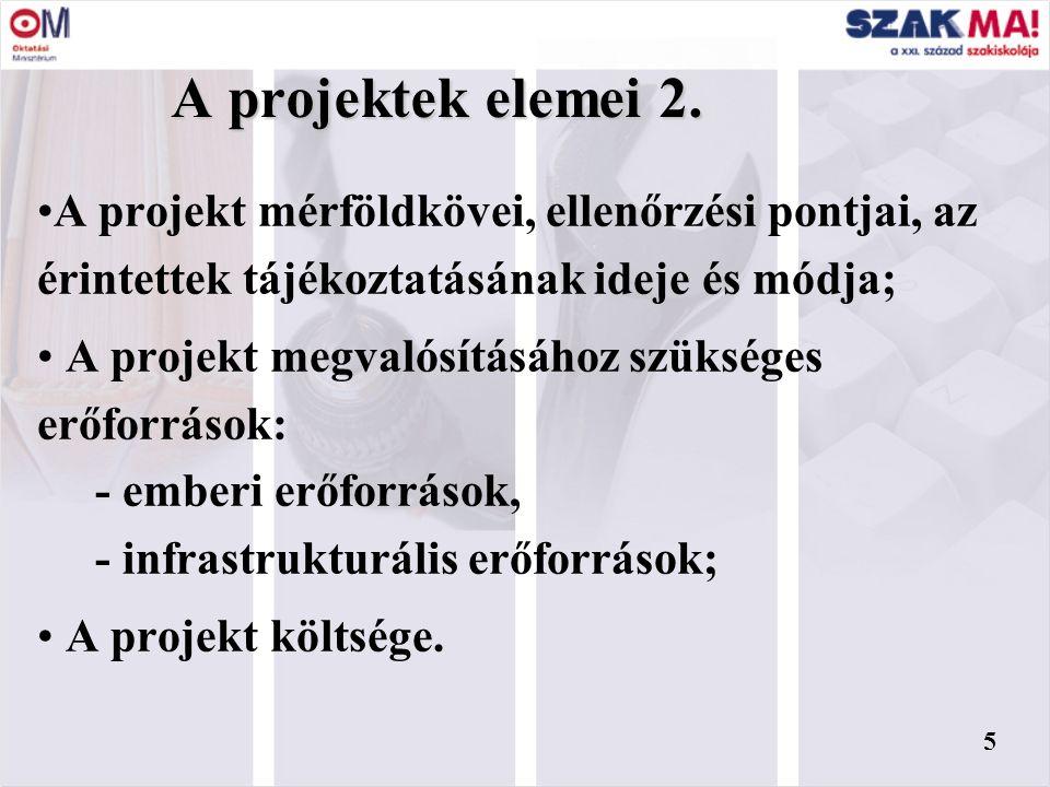 4 A projektek elemei 1.