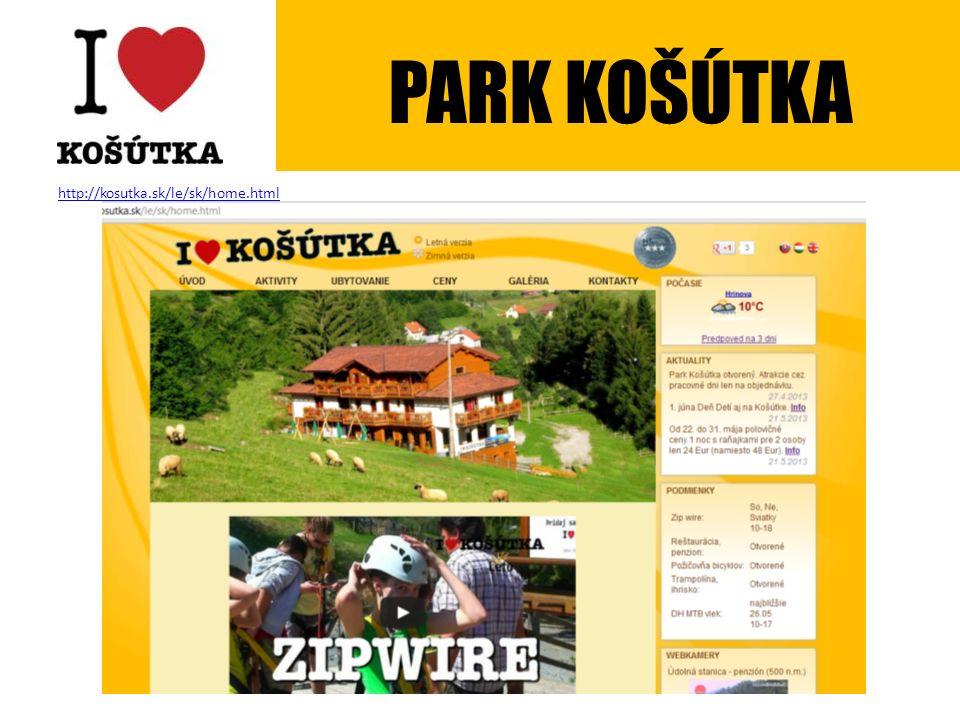 http://kosutka.sk/le/sk/home.html PARK KOŠÚTKA