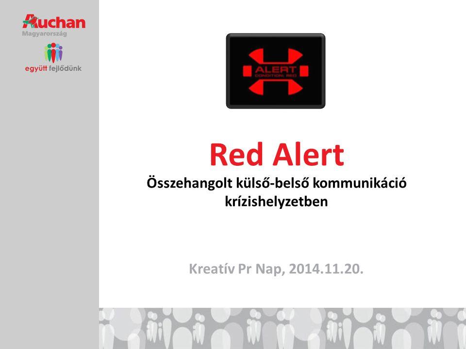 Red Alert Összehangolt külső-belső kommunikáció krízishelyzetben Kreatív Pr Nap, 2014.11.20.