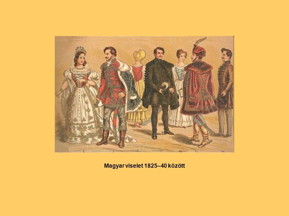 Magyar viselet 1825–40 között