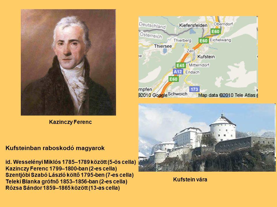 Kazinczy Ferenc Kufstein vára Kufsteinban raboskodó magyarok id.