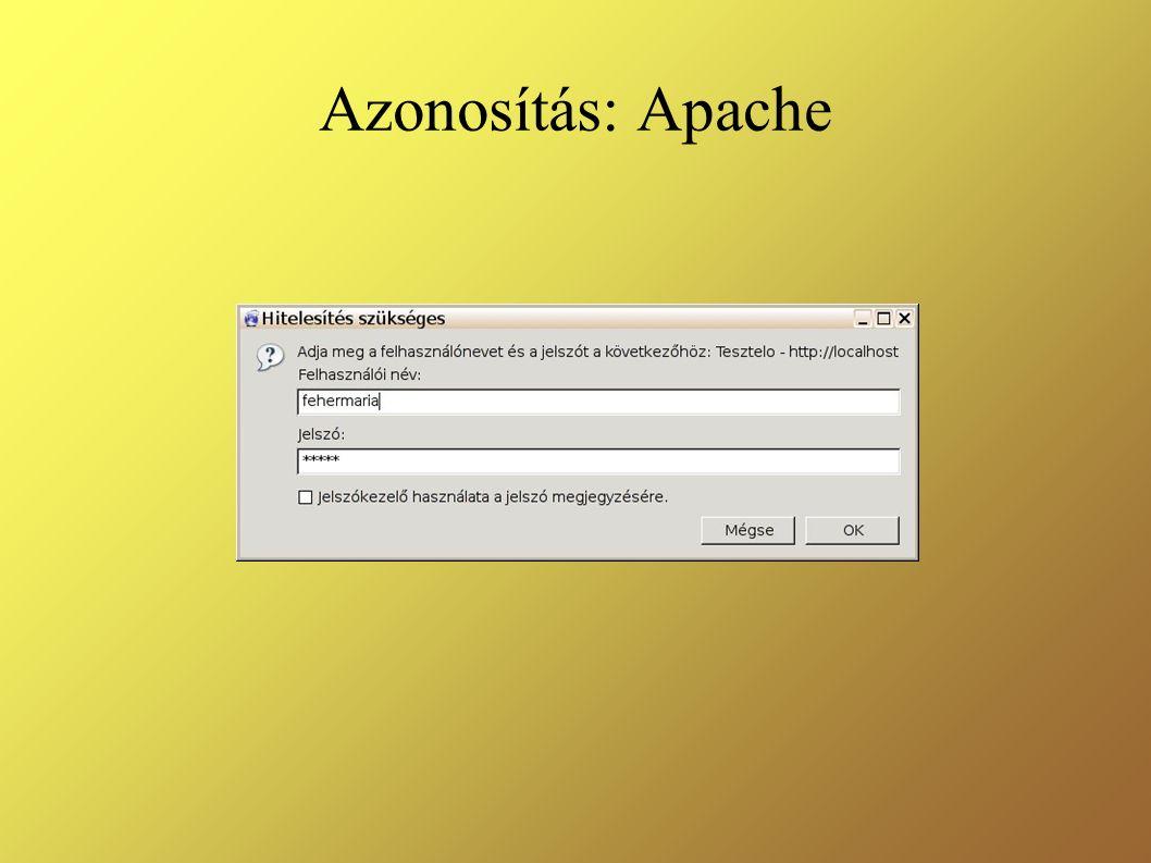 Azonosítás: Apache