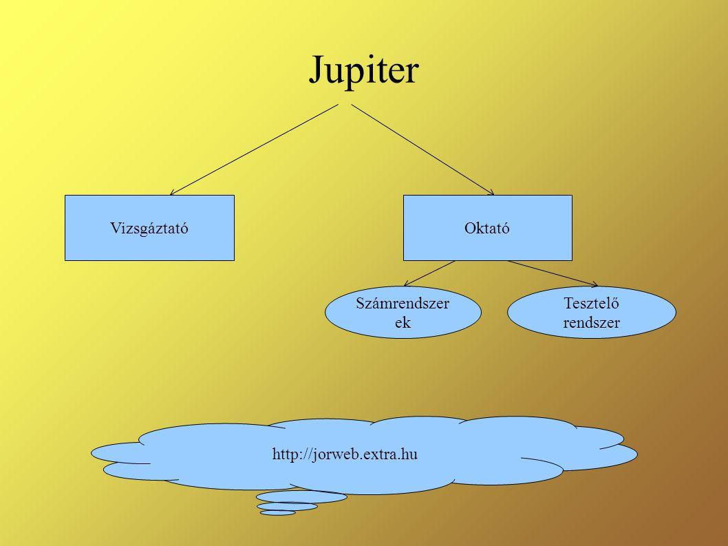 Jupiter OktatóVizsgáztató Számrendszer ek Tesztelő rendszer http://jorweb.extra.hu