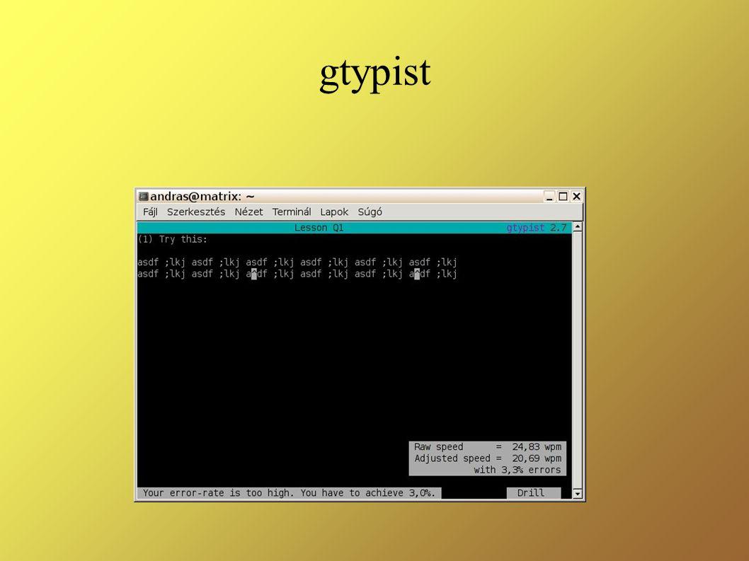 gtypist