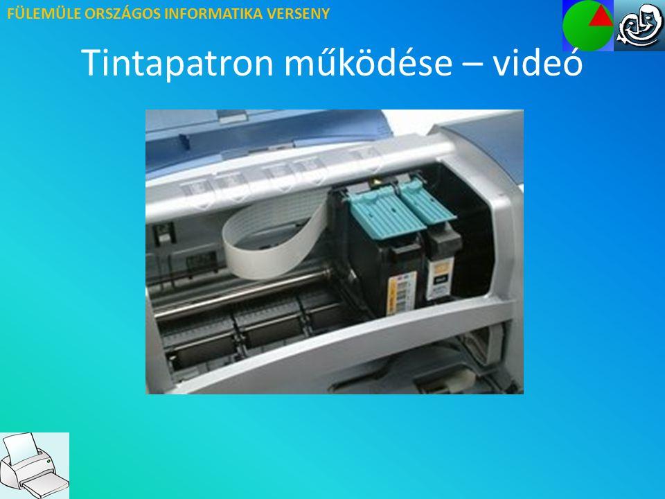 FÜLEMÜLE ORSZÁGOS INFORMATIKA VERSENY Tintapatron működése – videó