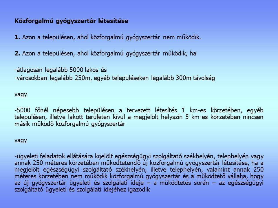 Közforgalmú gyógyszertár létesítése 1.