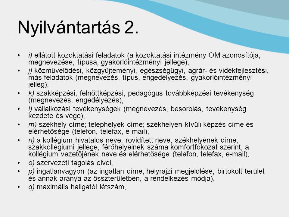 Nyilvántartás 2.