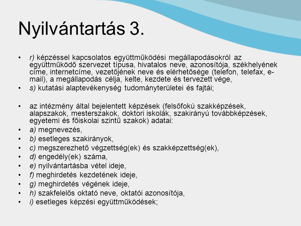 Nyilvántartás 3.