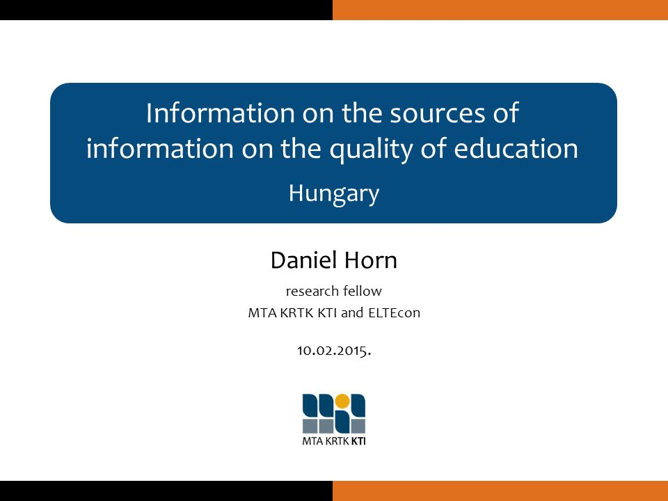 """Some further thoughts Hungary Daniel Horn Large reforms within the Hungarian public education system in the last couple years Re-centralization (and now de-concentration) Little focus on quality – but re-introduction of school inspectorate (in progress) Recognition that school-league tables (probably) do more harm than justice (even the """"value-added ones)."""