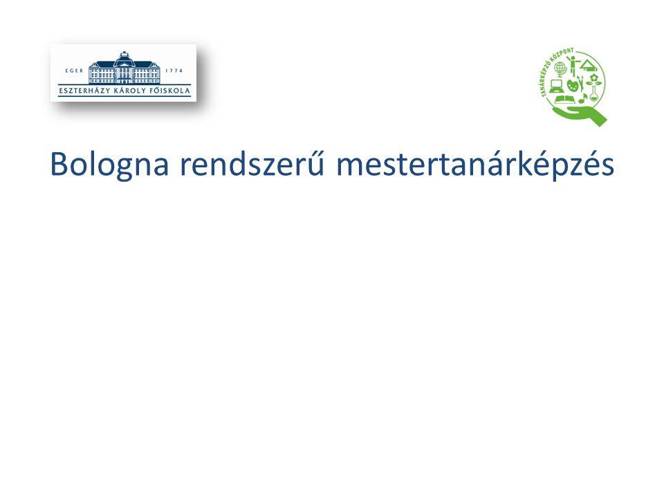 Bologna rendszerű mestertanárképzés