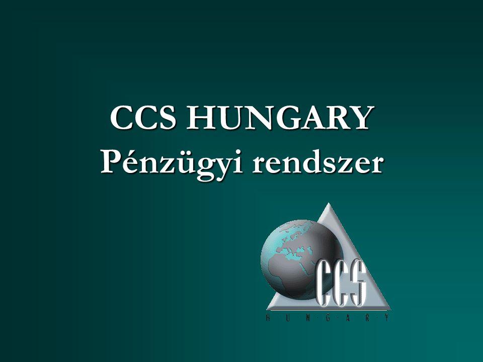 CCS HUNGARY Pénzügyi rendszer