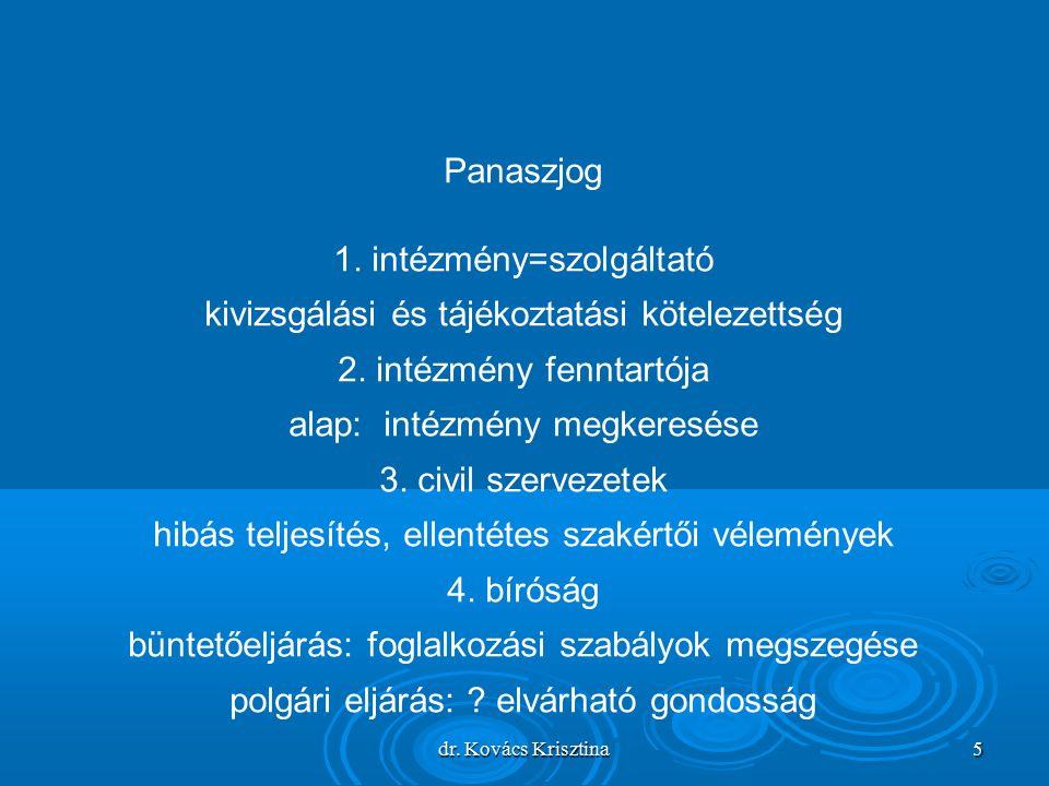 dr. Kovács Krisztina 5 Panaszjog 1.