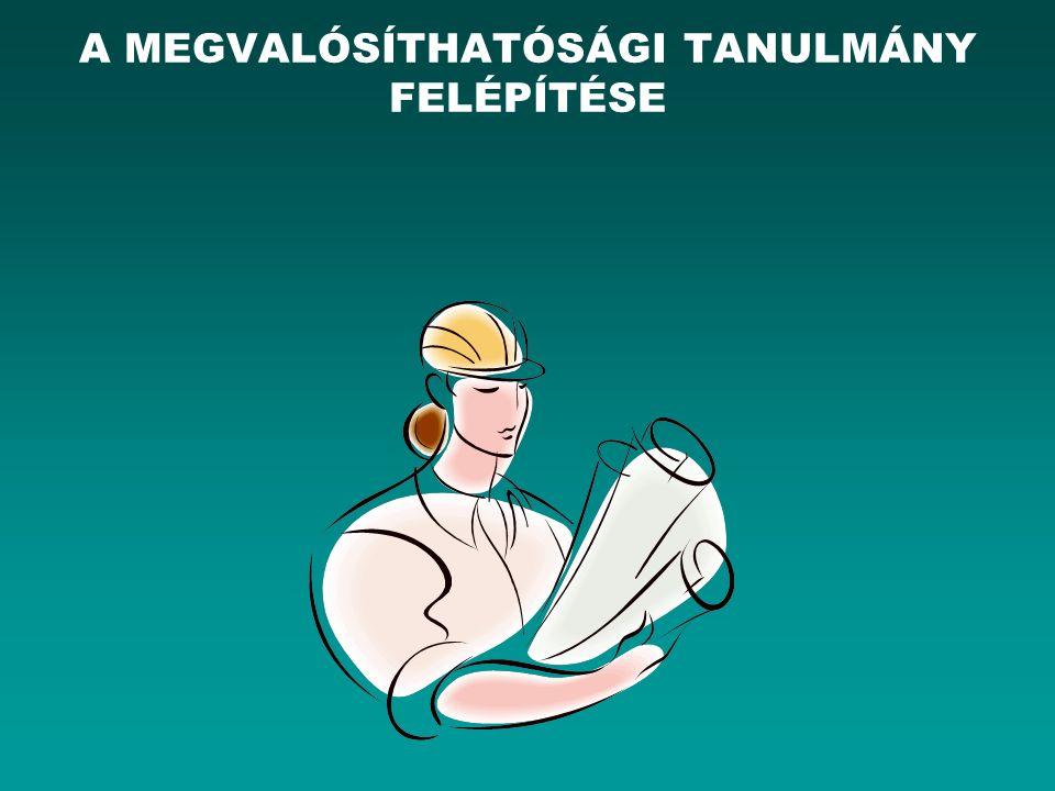 A MEGVALÓSÍTHATÓSÁGI TANULMÁNY FELÉPÍTÉSE