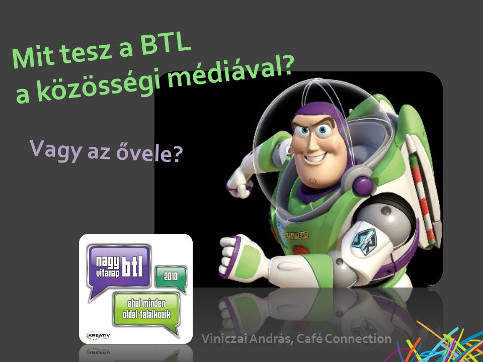 Viniczai András, Café Connection Mit tesz a BTL a közösségi médiával Vagy az ővele