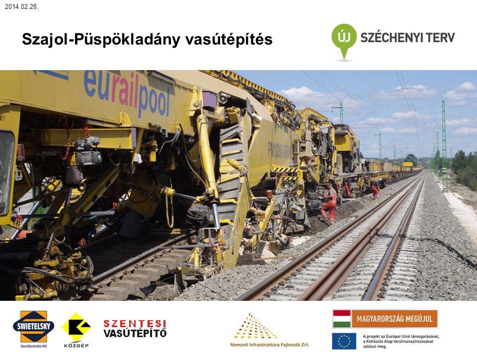 2014.02.28. Szajol-Püspökladány vasútépítés