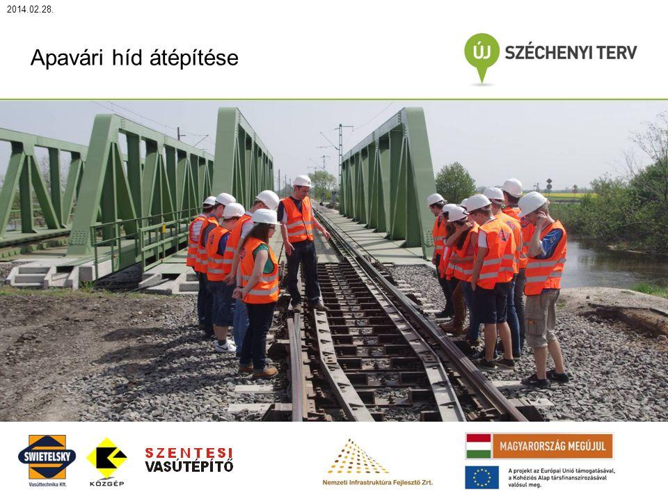 2014.02.28. Apavári híd átépítése