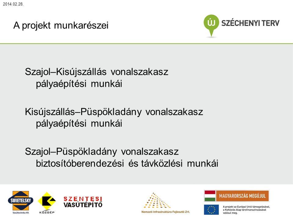 2014.02.28. Előszerelt kitérők beépítése daruval