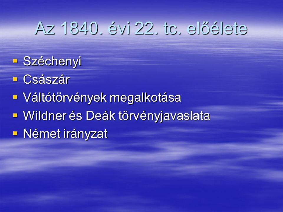 Az 1840. évi 22. tc.