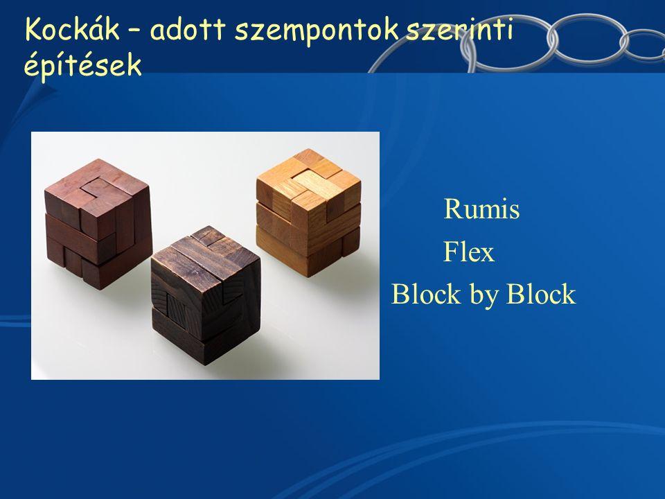 Kockák – adott szempontok szerinti építések Rumis Flex Block by Block