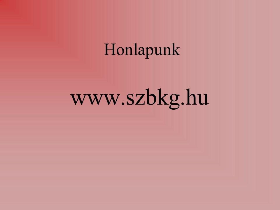 Honlapunk www.szbkg.hu