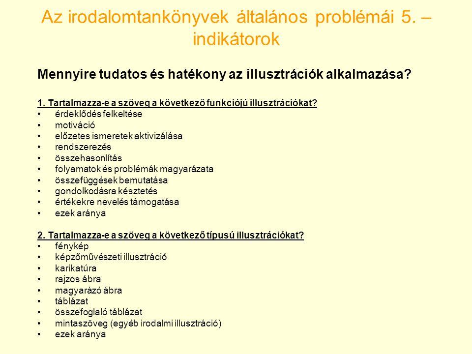 Az irodalomtankönyvek általános problémái 5.