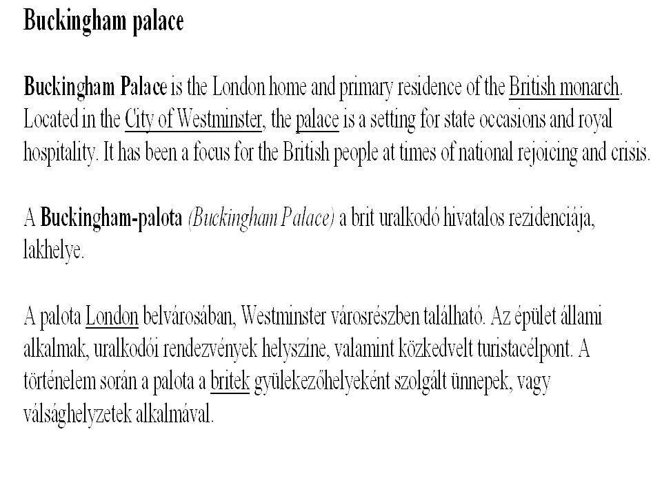 Buckingham palace – A Buckingham palota