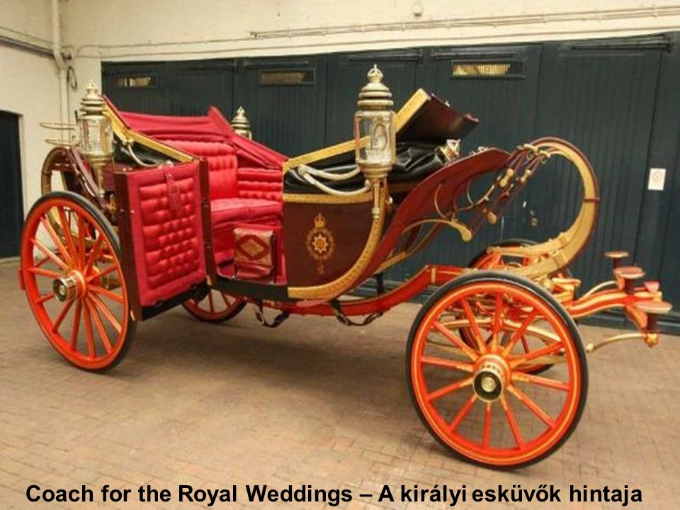 Glass coach takes royal brides to their weddings.
