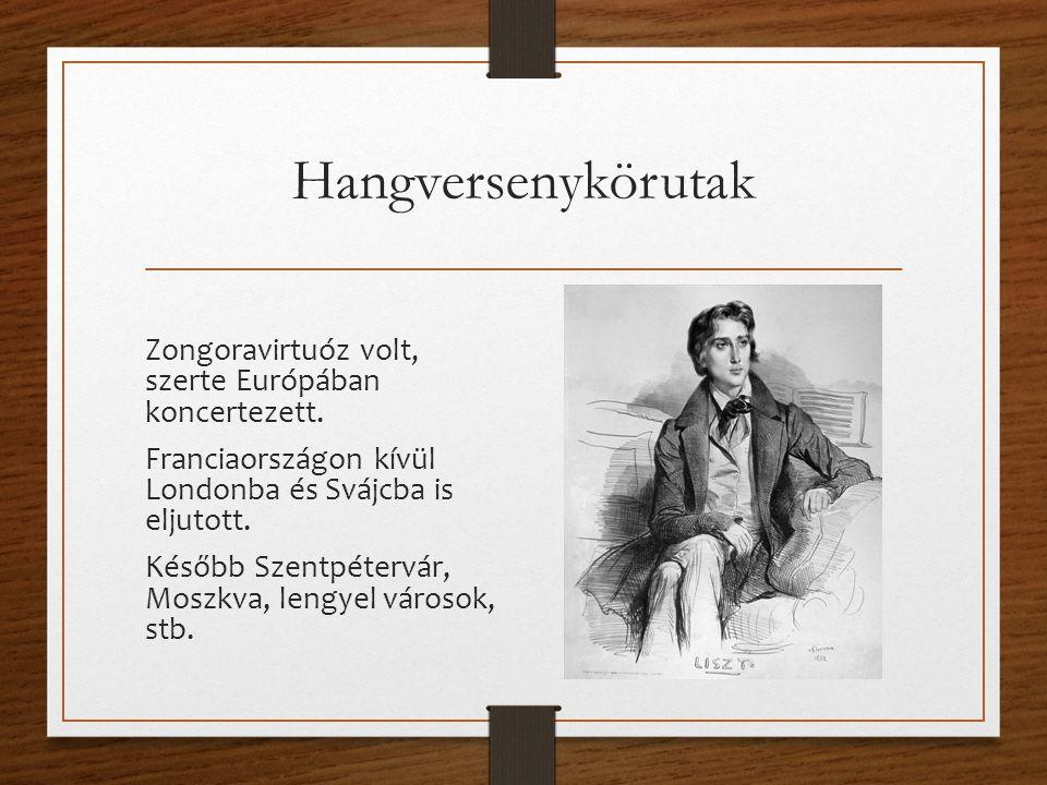 Hangversenykörutak Zongoravirtuóz volt, szerte Európában koncertezett.