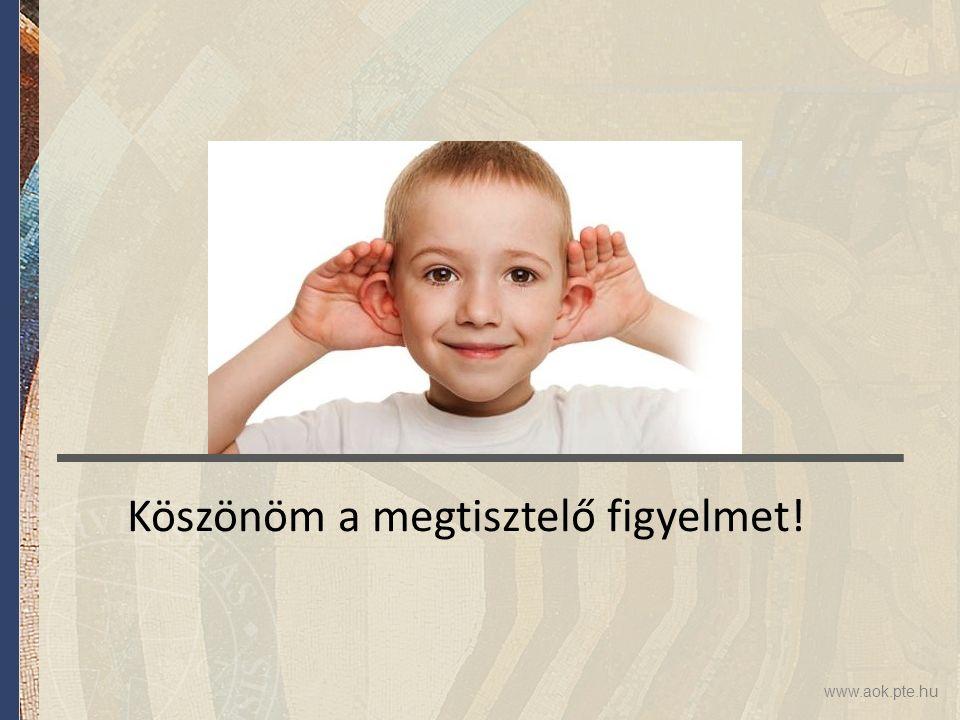 www.aok.pte.hu Köszönöm a megtisztelő figyelmet!
