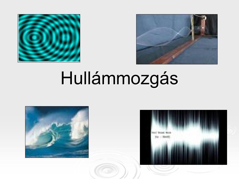 A terjedési sebesség meghatározása a hullám jellemző adataival.