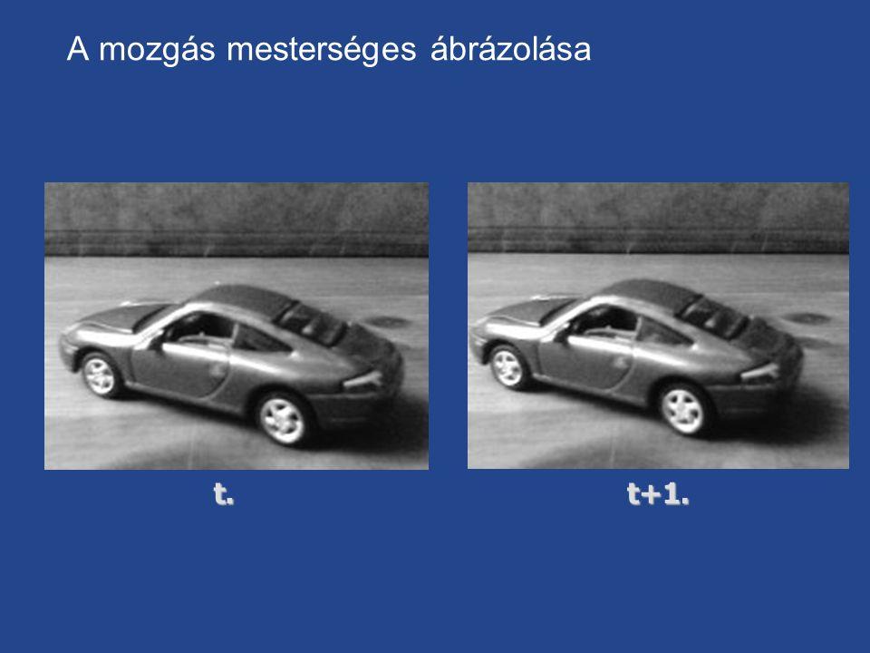 A mozgás mesterséges ábrázolásat.t+1.