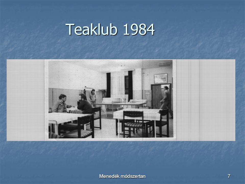 Menedék módszertan7 Teaklub 1984
