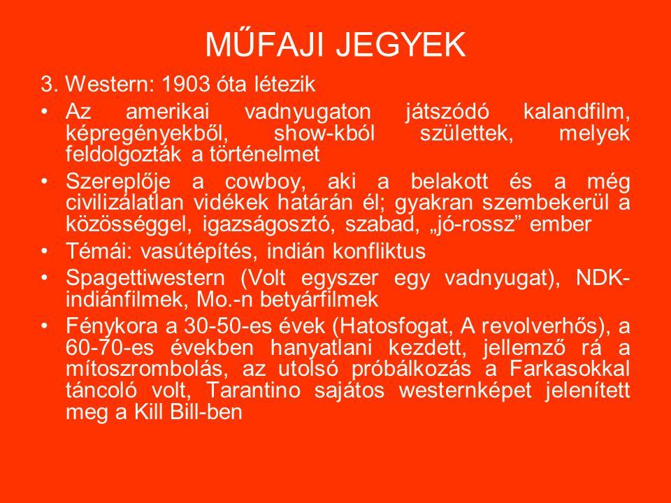 MŰFAJI JEGYEK 3.