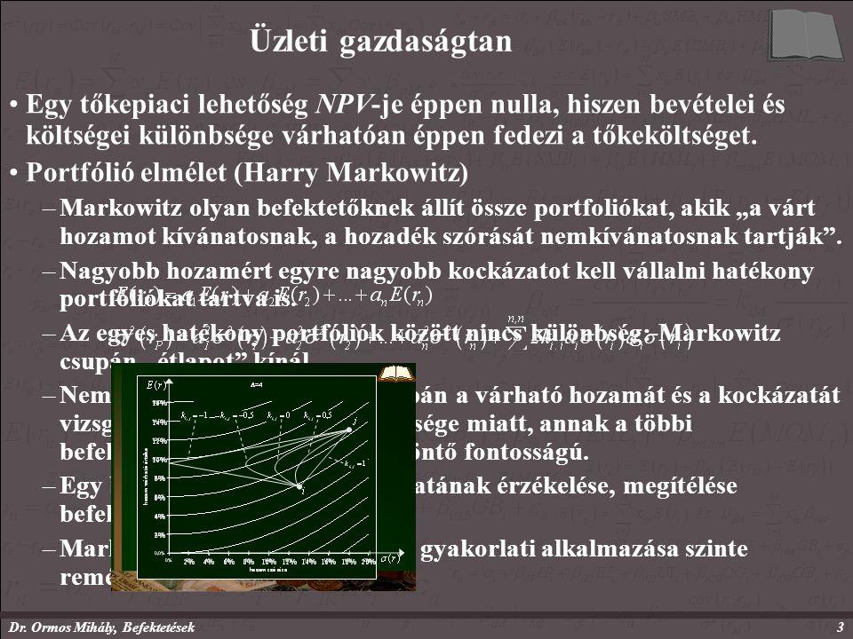 Dr.Ormos Mihály, Befektetések14 Befektetések II.