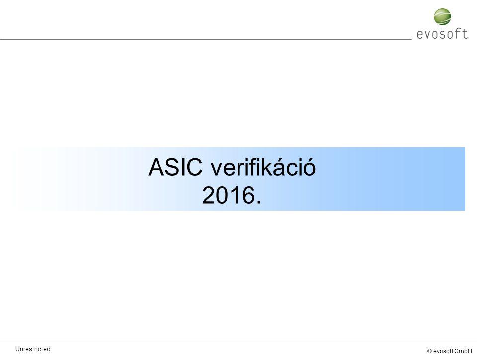 © evosoft GmbH ASIC verifikáció 2016. Unrestricted