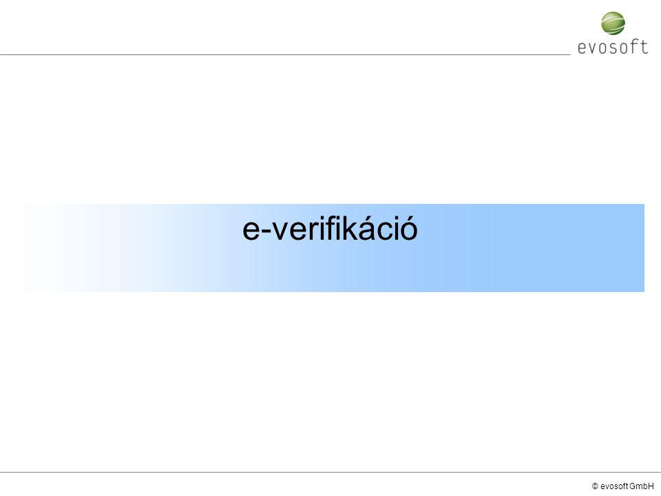 © evosoft GmbH e-verifikáció