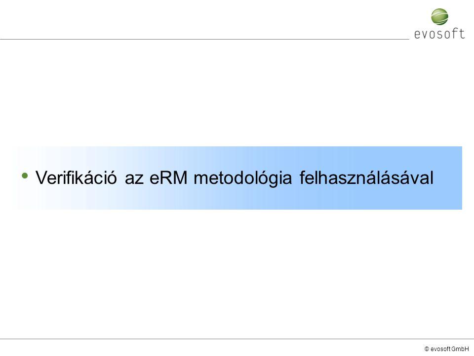 © evosoft GmbH Verifikáció az eRM metodológia felhasználásával