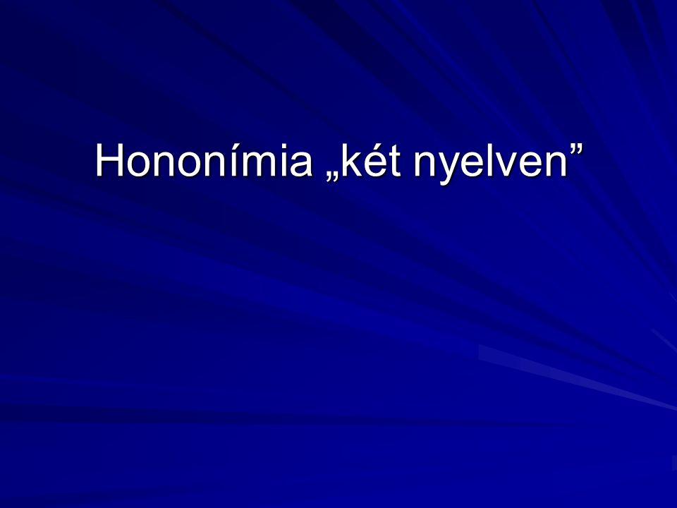 """Hononímia """"két nyelven"""