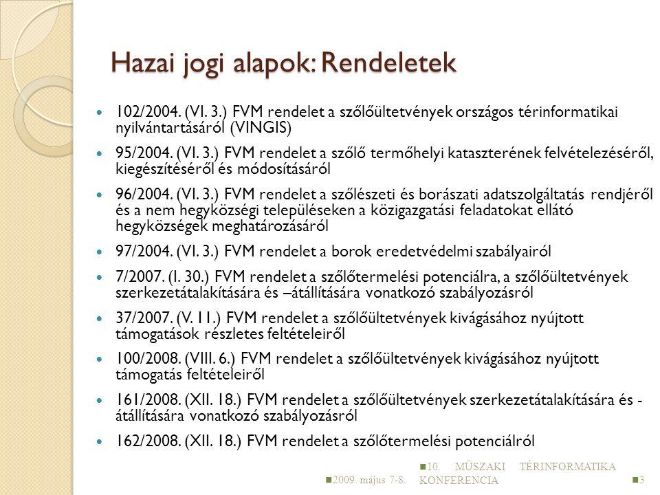 Hazai jogi alapok: Rendeletek 102/2004. (VI.