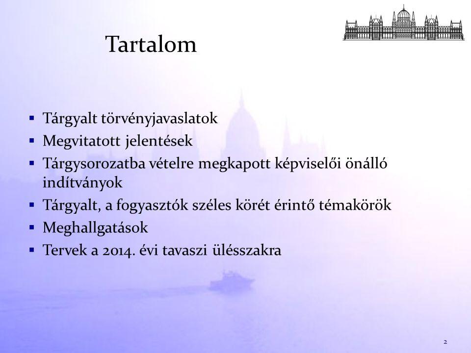 1.Az Alaptörvény ötödik módosítása:  Magyar Nemzeti Bankról szóló törvény változása  Pénzügyi tárgyú törvények változása  PSZÁF  MNB  Pénzügyi Stabilitási Tanács 2.Költségvetéssel összefüggő törvényjavaslatok:  Magyarország 2012.