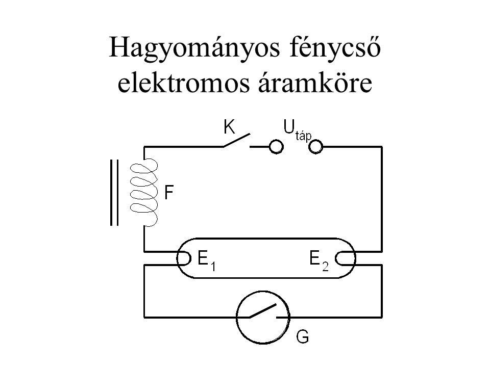 Hagyományos fénycső elektromos áramköre