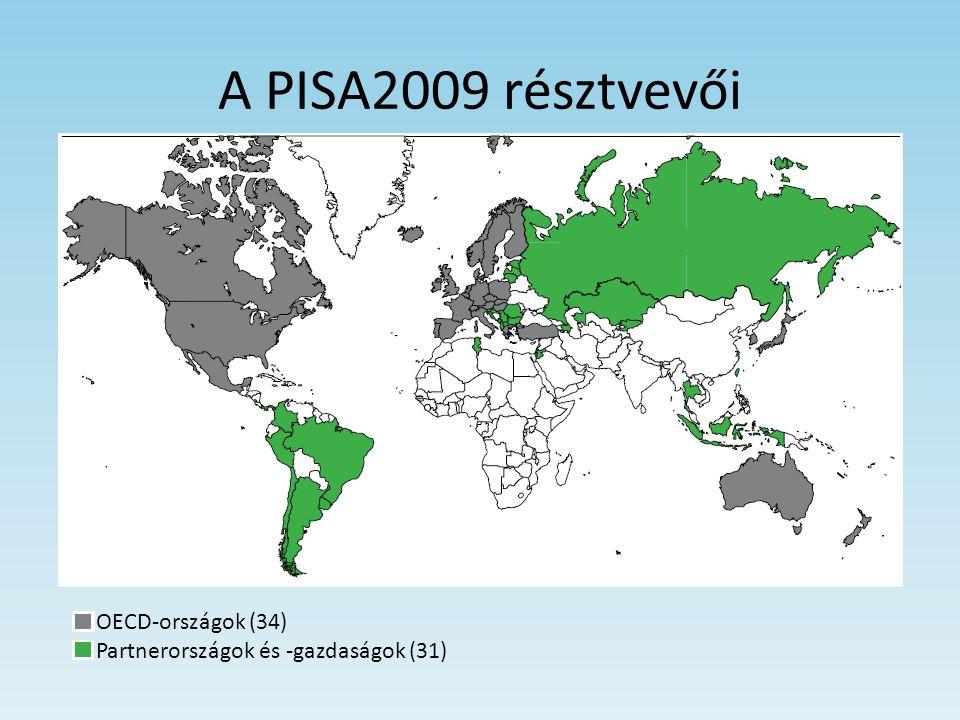 A PISA2009 résztvevői OECD-országok (34) Partnerországok és -gazdaságok (31)