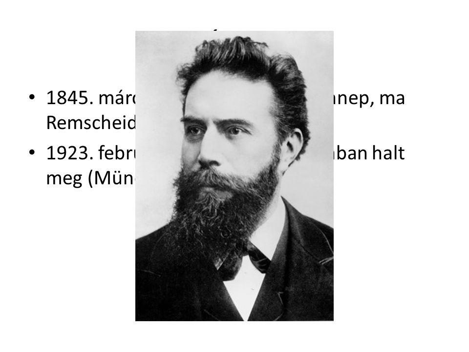 Élete 1845. március 27-én született (Lennep, ma Remscheid) 1923. február 10.-én, 77 éves korában halt meg (München, bélrák)