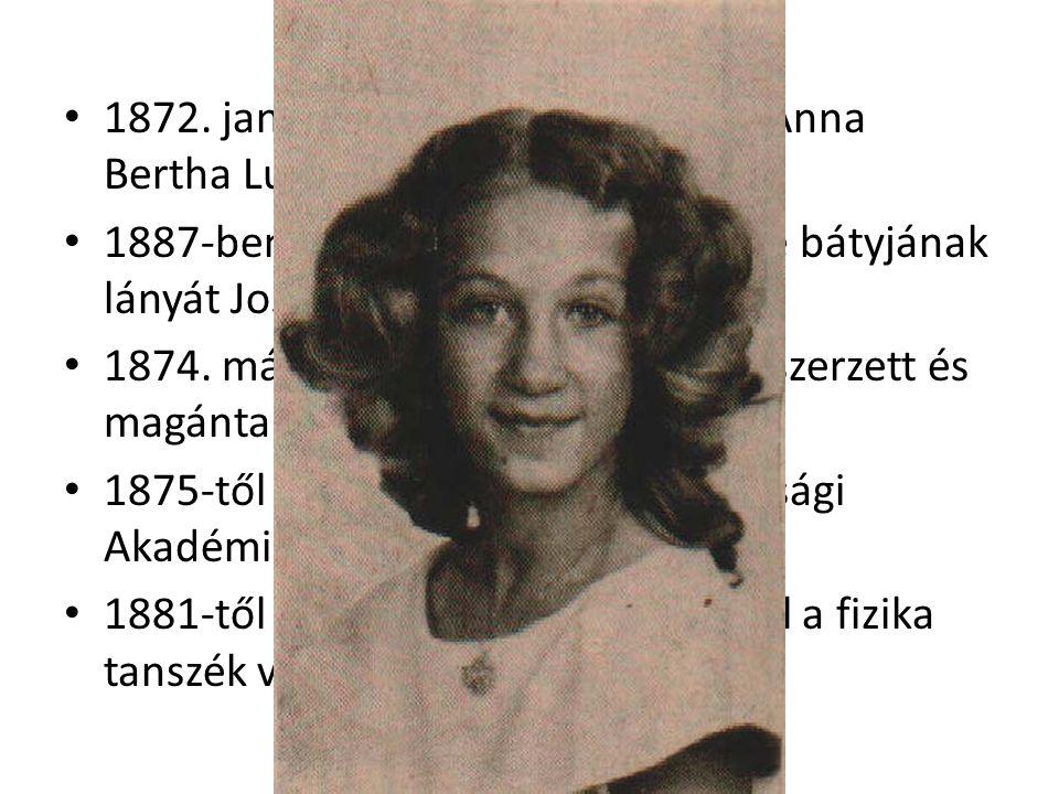 1872. január 19-én feleségül vette Anna Bertha Ludwig-ot (Apeldoorn) 1887-ben örökbefogadtaák felesége bátyjának lányát Josephine Bertha Ludwig-ot 187