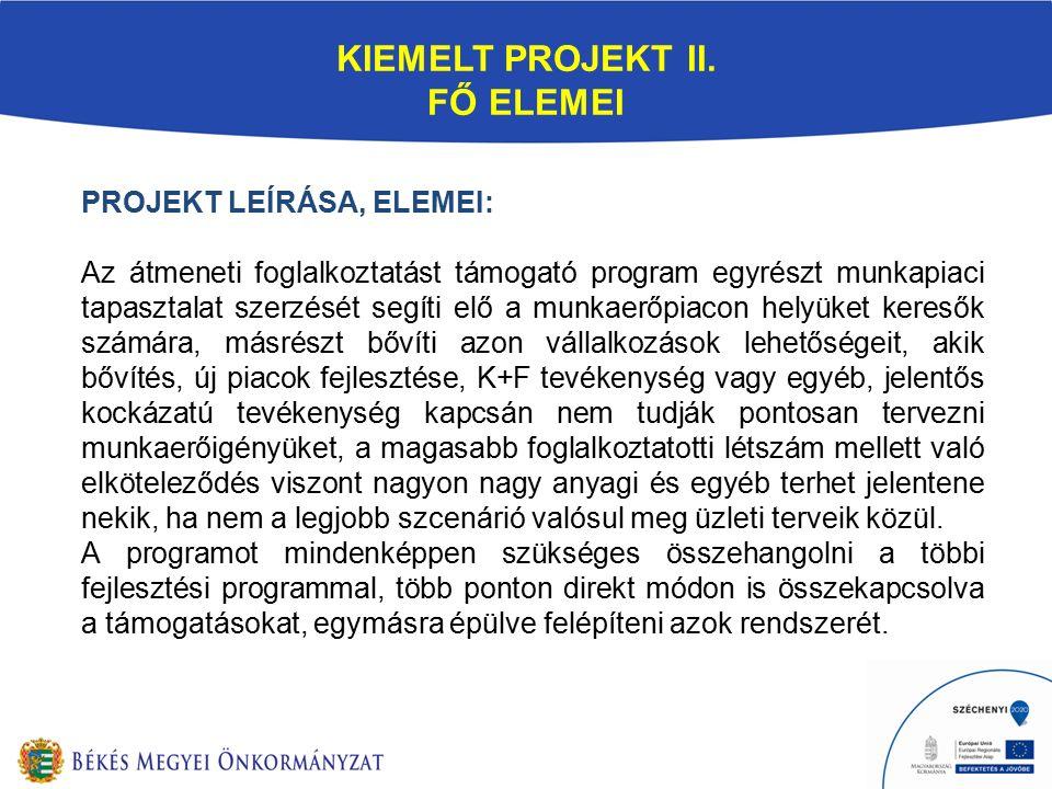 KIEMELT PROJEKT II.