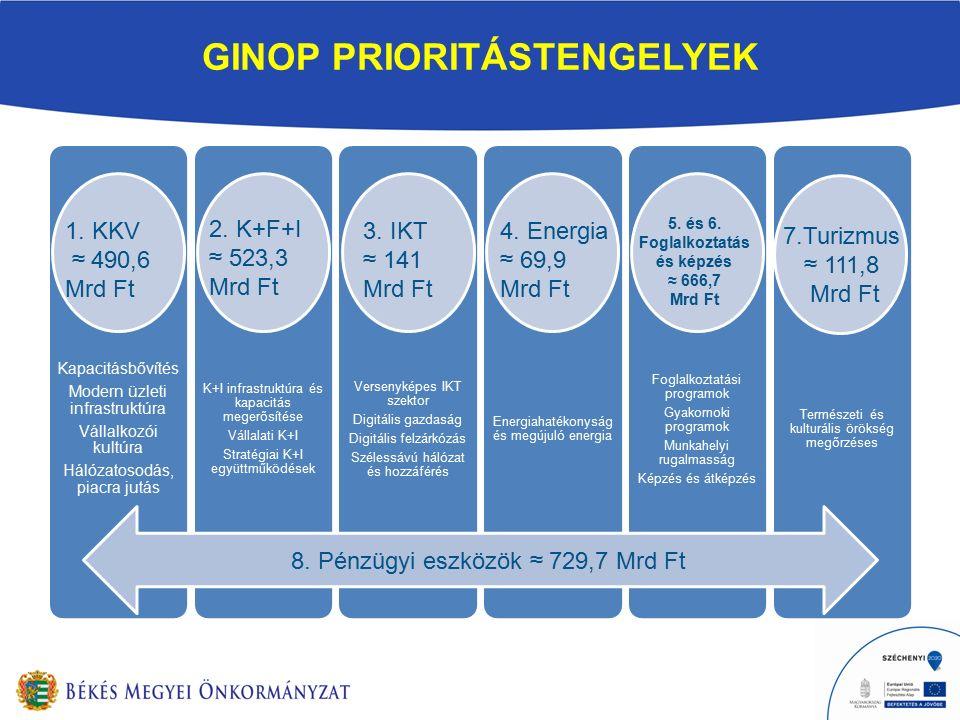 GINOP PRIORITÁSTENGELYEK 8.