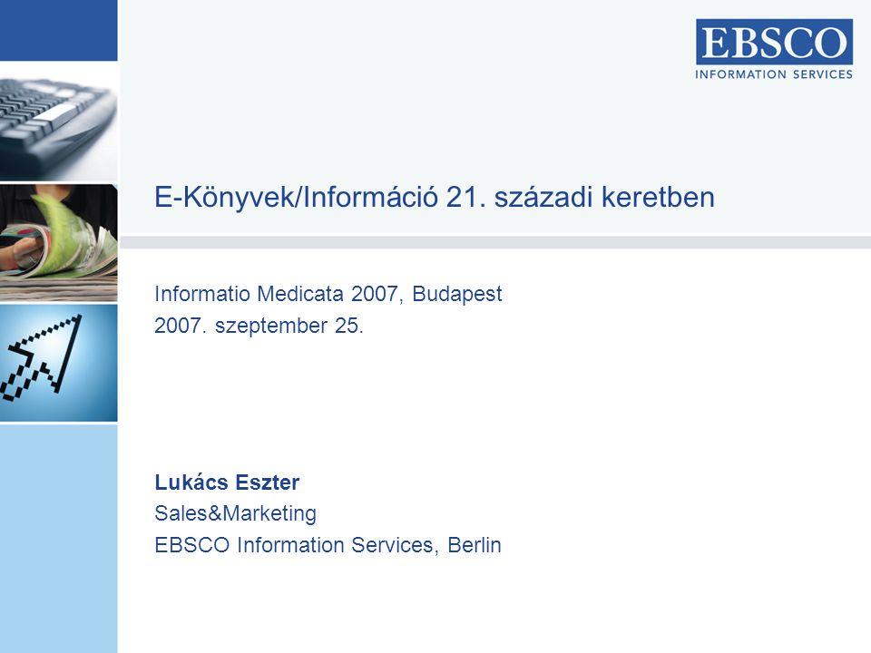 Informatio Medicata 2007, Budapest 2007.szeptember 25.