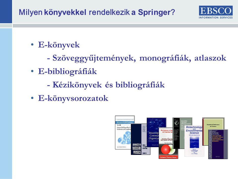 Milyen könyvekkel rendelkezik a Springer .