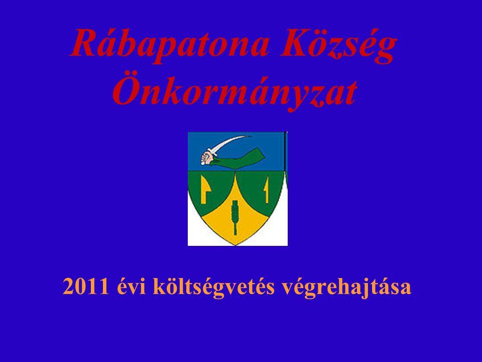 Rábapatona Község Önkormányzat 2011 évi költségvetés végrehajtása